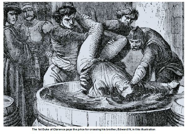 george duke of clarence being drowned in a vat of malmsey