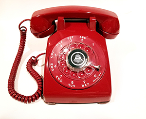 A red phone to make a call RIGHT NOWWWW