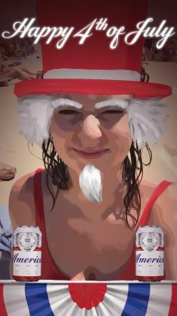 Budweiser July 4th Snapchat Lens