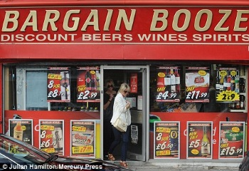 bargain booze at a UK off-license