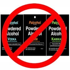 palcohol packets with a red ban symbol over them