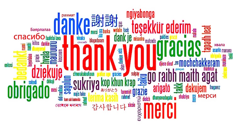 thank yous in many languages