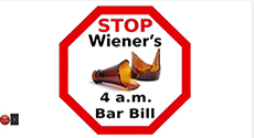stop SB 384 scott wiener's 4 a.m. bar bill