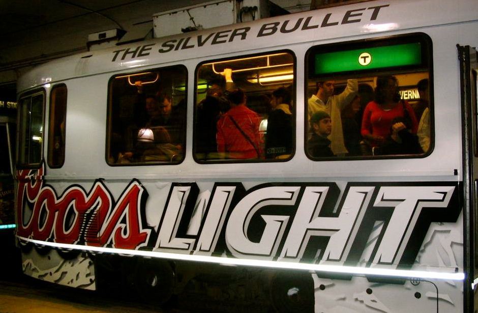 Coors Light Ad on Train