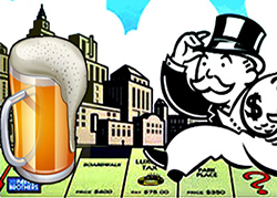 the Monopoly Man (Uncle Pennybags, we believe) chases a beer