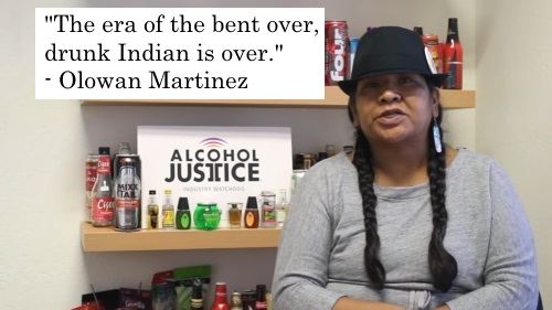 Olowan Martinez says the era of the bent over drunk indian is over