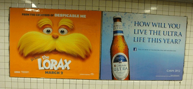 NYC Campaign to Free Public Transit from Alcohol Ads