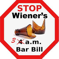 Stopp Scott Wiener's dangerous 3 a.m. bar bill. 3 a.m., not 4 a.m.