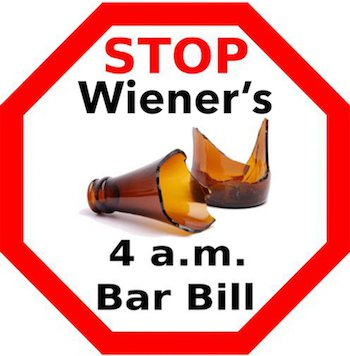 Stop Wiener's 4am Bar Bill