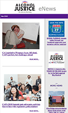 small image of the november 2018 alcohol justice enews