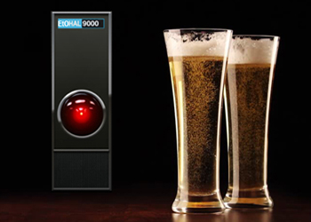 The EtOHAL-9000 alcohol service robot is every kid's best friend
