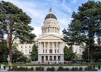 The California state capital building, for better or worse