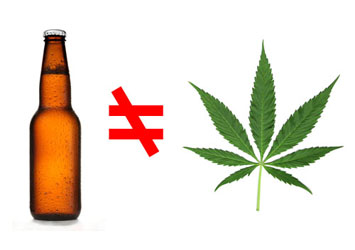 Marijuana should not be treated the same as alcohol