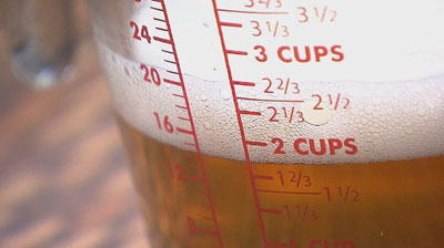 How do you measure your drinks per day?